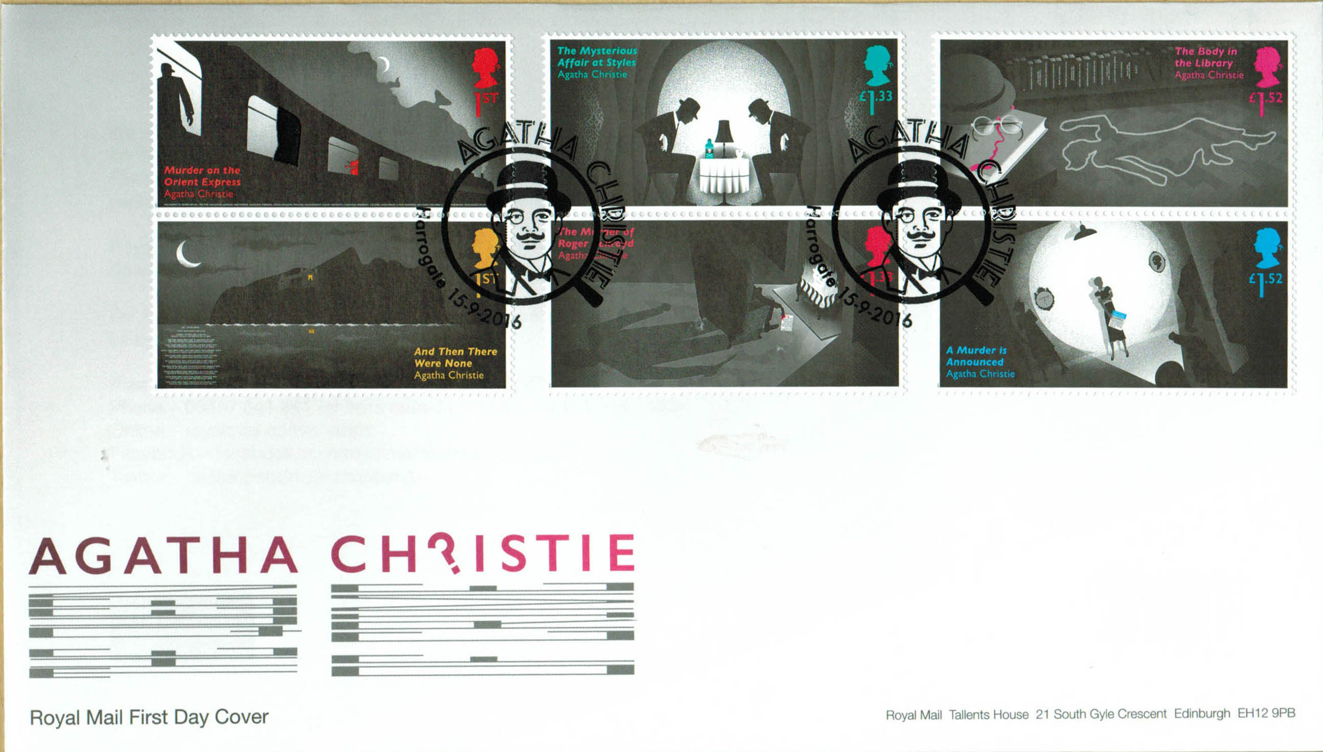 Agatha Christie Royal Mail FDC