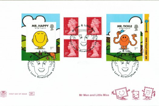 Mr Men & Little Miss Stuart Retail Booklet FDC