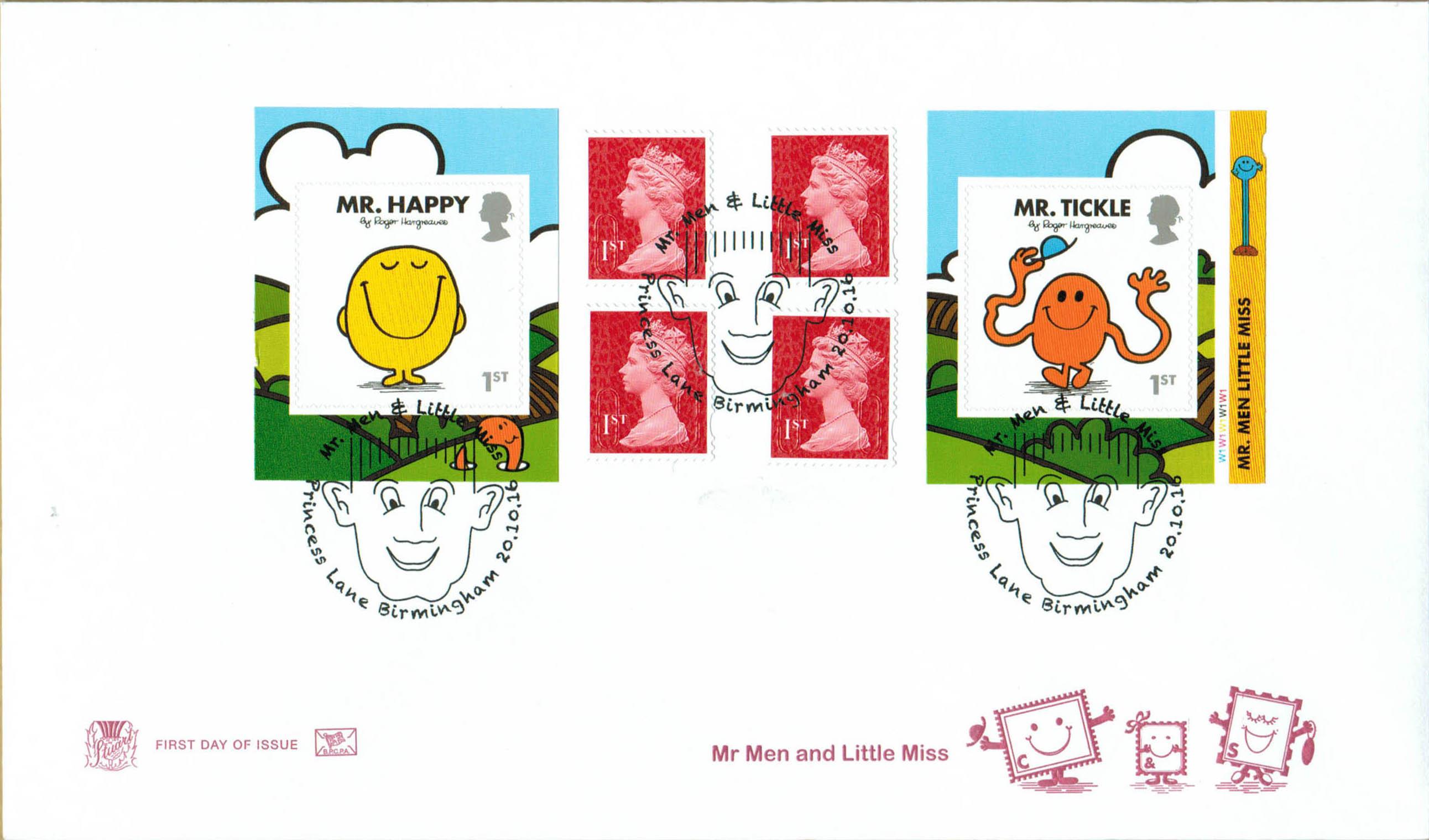 Mr Men & Little Miss Stuart Retail Booklet FDC