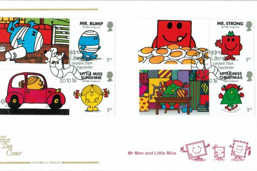 Mr Men & Little Miss Cotswold Generic Sheet FDC