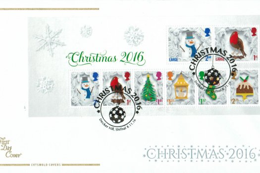 Christmas 2016 Cotswold Mini Sheet FDC
