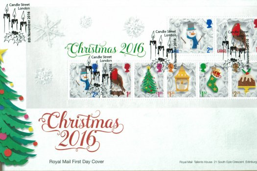 Christmas 2016 Royal Mail Mini Sheet FDC
