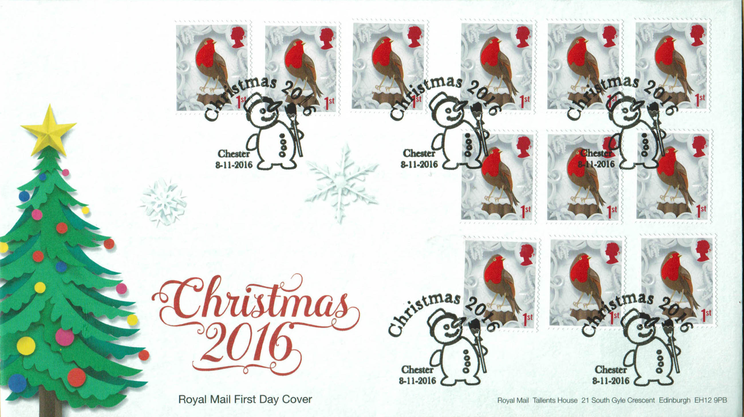 Christmas 2016 Royal Mail Retail booklet 1st Class