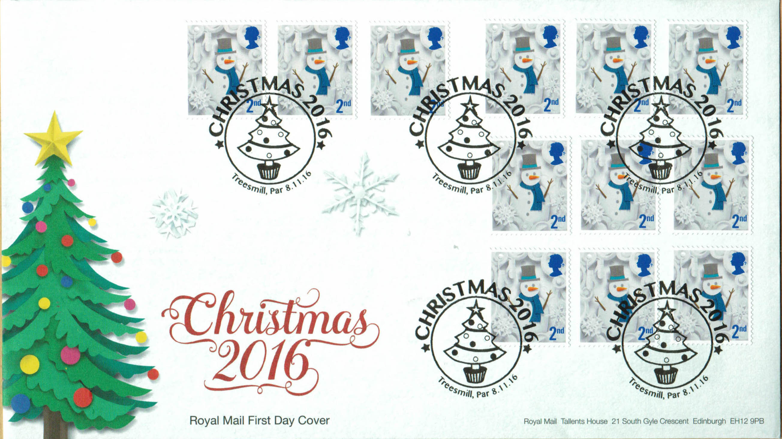 Christmas 2016 Royal Mail Retail booklet 2nd Class