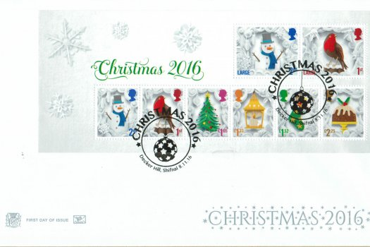Christmas 2016 Stuart Mini Sheet FDC