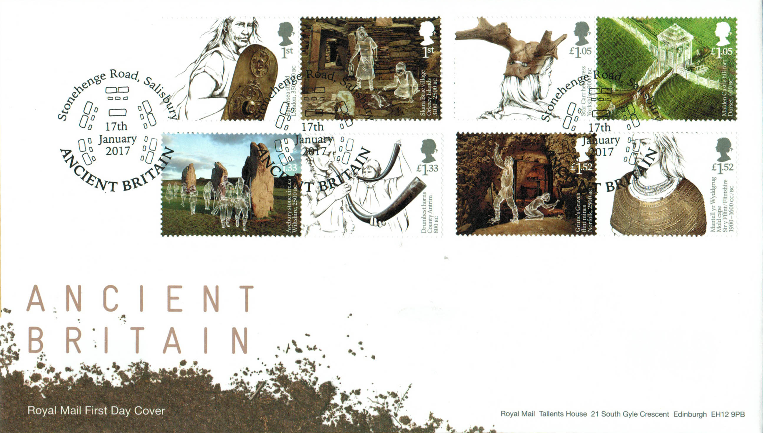 Ancient Britain Stamp Cards