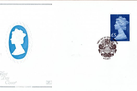 Cotswold High Value £5 Definitive FDC