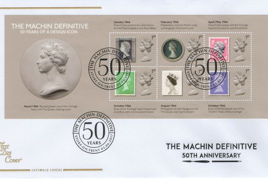 Cots-Machin-50yrs-Design-Icon-Minisheet-FDC-June-2017