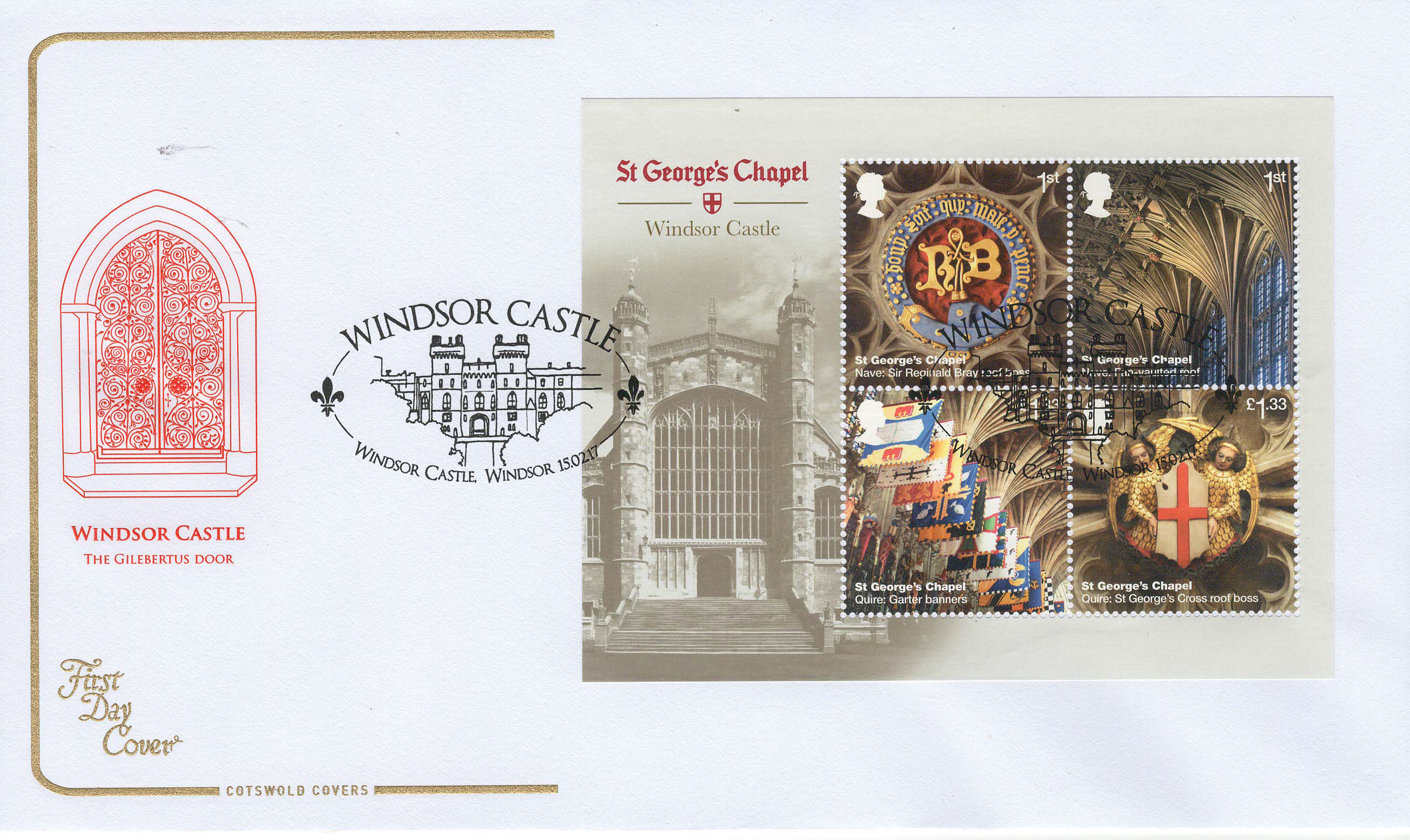 Cots-Windsor-Castle-Minisheet-FDC-Feb-2017