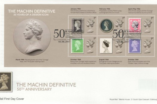 RM-Machin-Anniversary-50yrs-Design-Icon-Minisheet-FDC-June-2017.