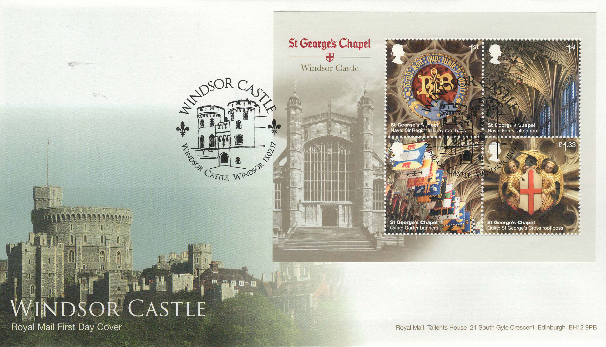 RM-Windsor-Castle-Minisheet-FDC-Feb-2017