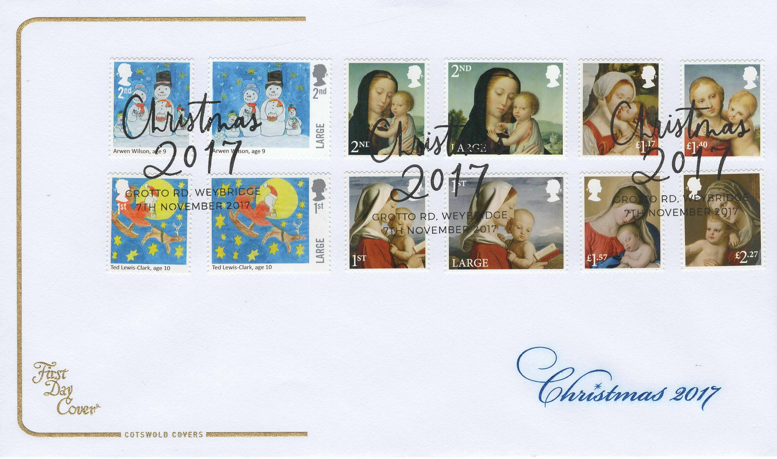 Cotswold Christmas 2017 FDC 2