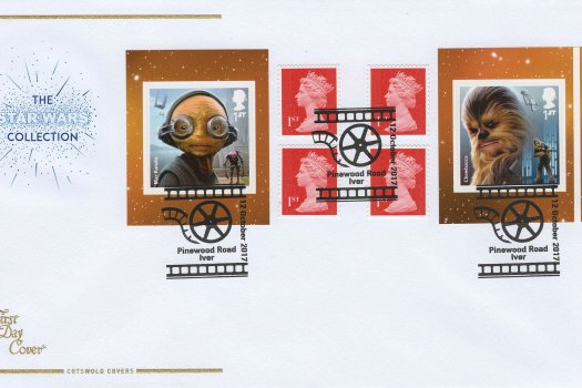 Cotswold star wars aliens retail booklet fdc