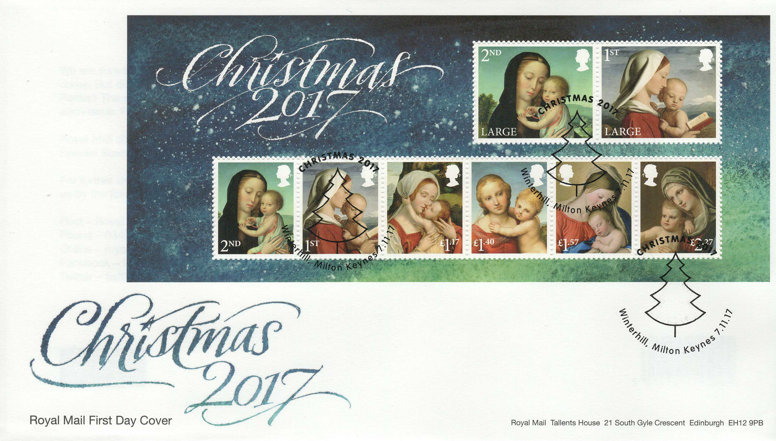 Royal-Mail-Christmas-2017-Minsheet-FDC