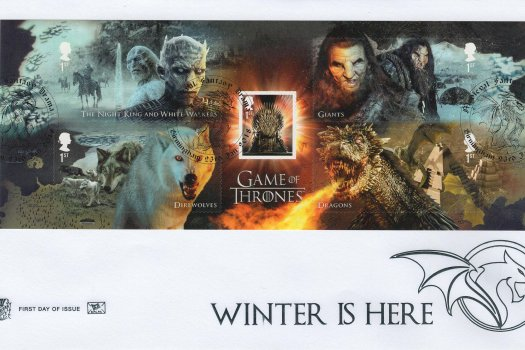 Stuart Game of Thrones Minisheet FDC