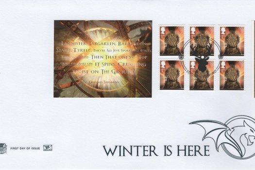 Stuart Game of Thrones Retail Booklet FDC