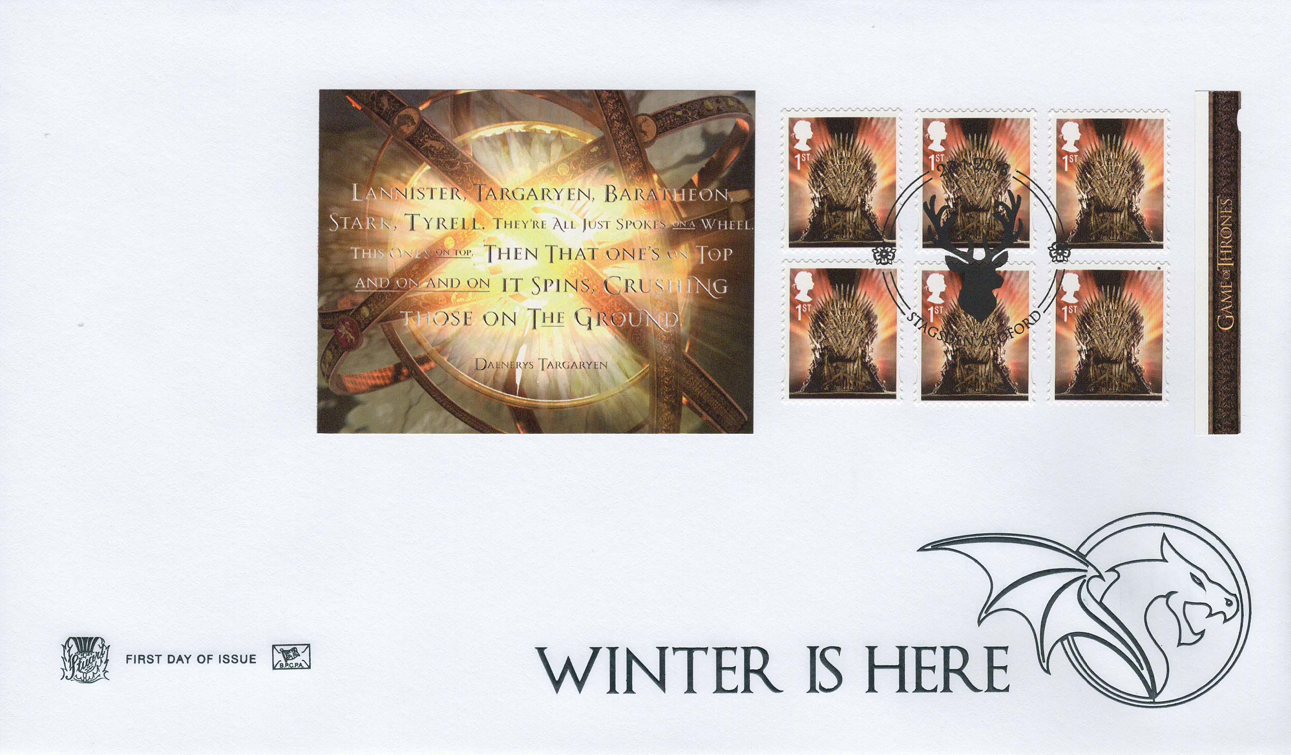 Stuart Game of Thrones Retail Booklet FDC