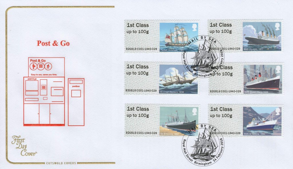 Cotswold P&G Mail by Sea FDC