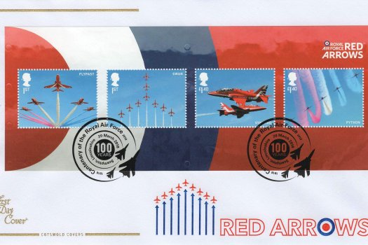 Cotswold RAF Red Arrows Minisheet FDC