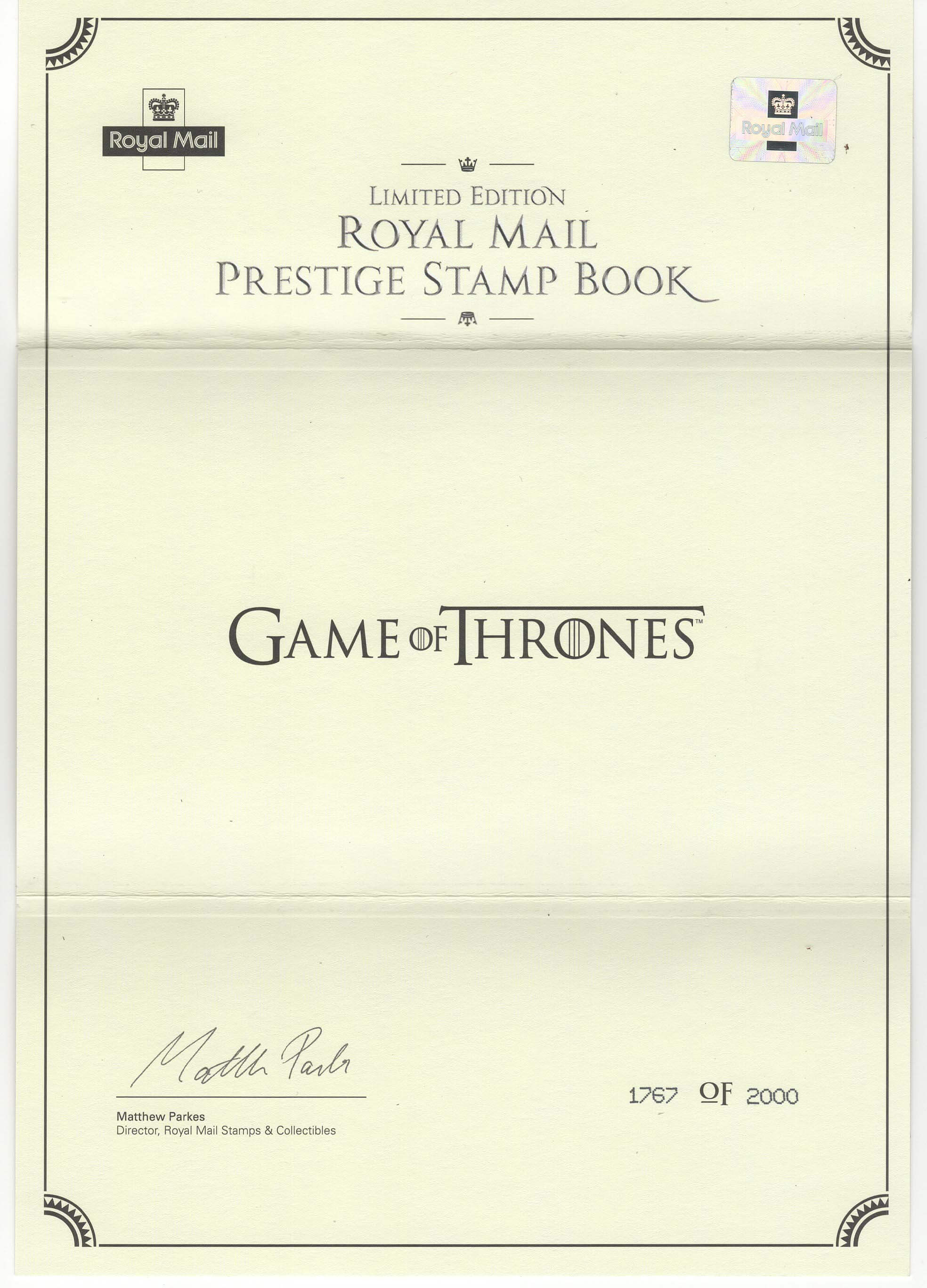 Limited Edition Royal Mail Game of Thrones PSB image 3