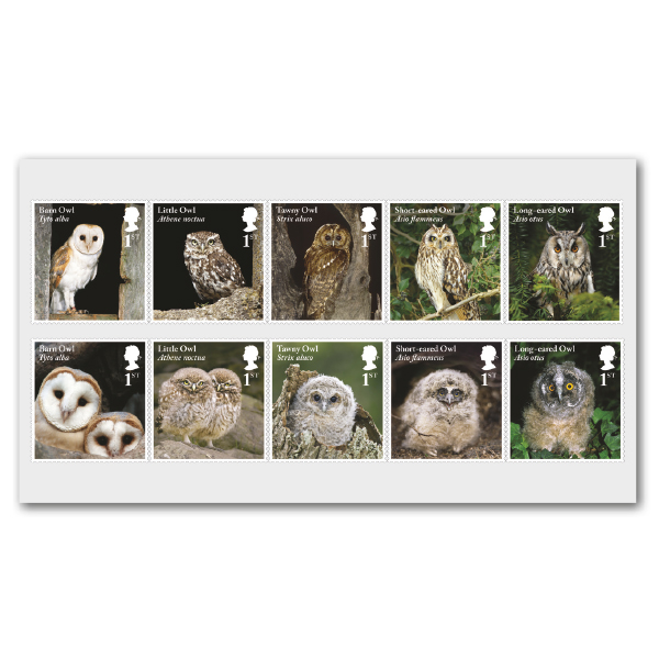 GB Owls Stamps May 2018