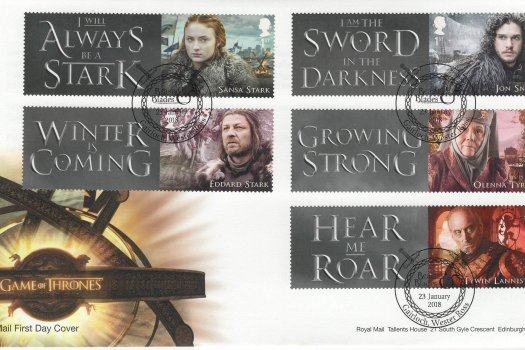Royal Mail Game of Thrones Generic Sheet FDC