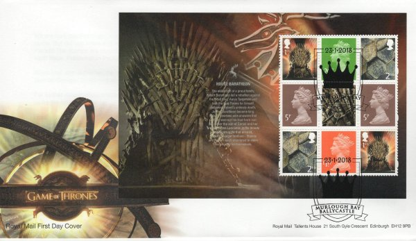 Royal Mail Game of Thrones Main Pane FDC