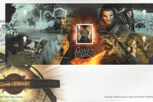 Royal Mail Game of Thrones Minisheet FDC
