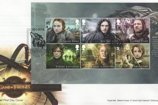 Royal Mail Game of Thrones PSB FDC