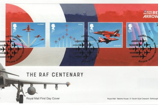 Royal Mail RAF Red Arrows Minisheet FDC