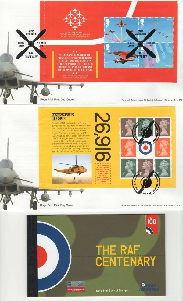 Royal Mail RAF PSB FDC image 2