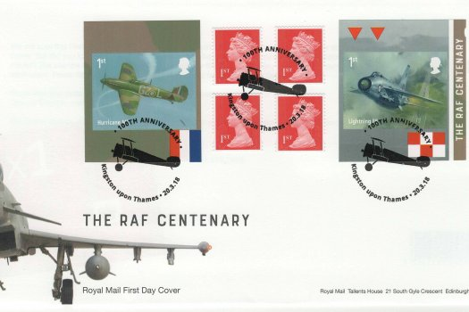 Royal Mail RAF Retail Booklet FDC