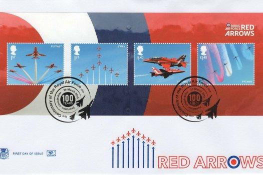Stuart RAF Red Arrows Minisheet FDC