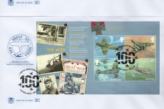 Stuart RAF PSB FDC image 1