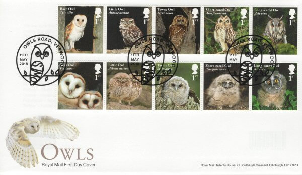 Royal Mail Owls FDC