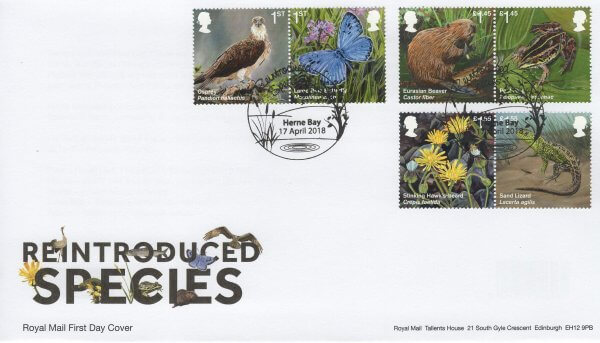 Royal Mail Reintroduced Species FDC