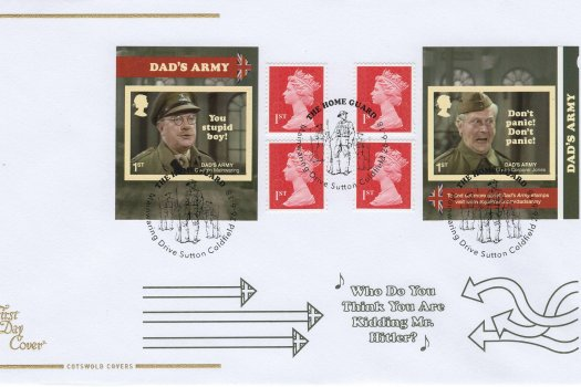 Cotswold Dad's Army Retail Booklet FDC