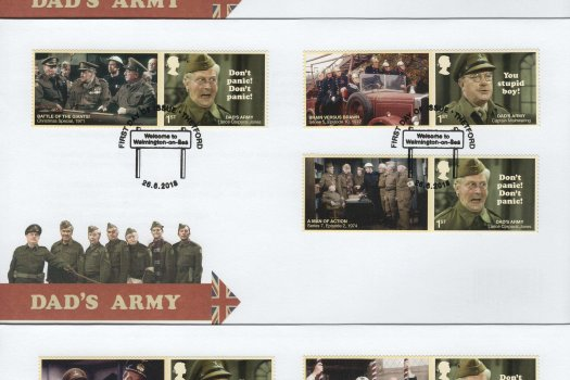 Royal Mail Dad's Army Generic Sheet FDC