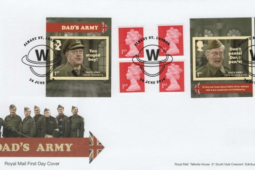 Royal Mail Dad's Army Retail Booklet FDC