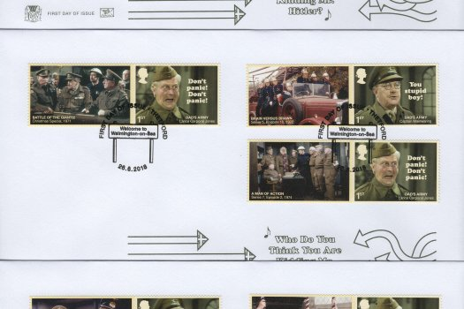 Stuart Dad's Army Generic Sheet FDC