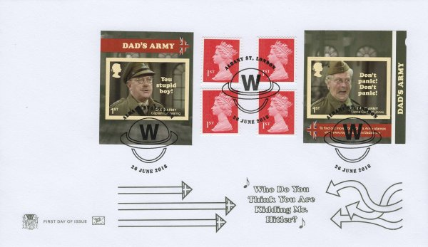 Stuart Dad's Army Retail Booklet FDC