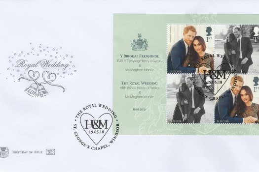 Stuart Royal Wedding MS FDC