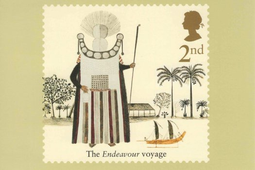 Captain Cook Stamp Cards Back image 1
