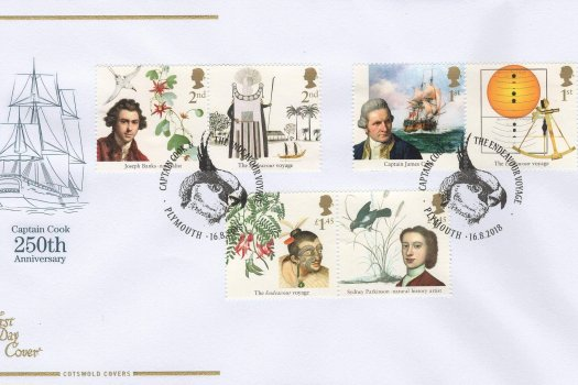 Cots Captain Cook FDC