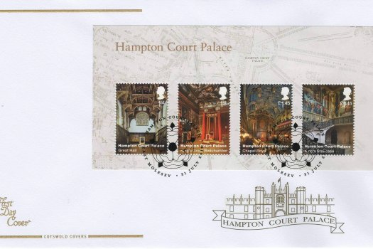 Cots Hampton Court Minisheet FDC