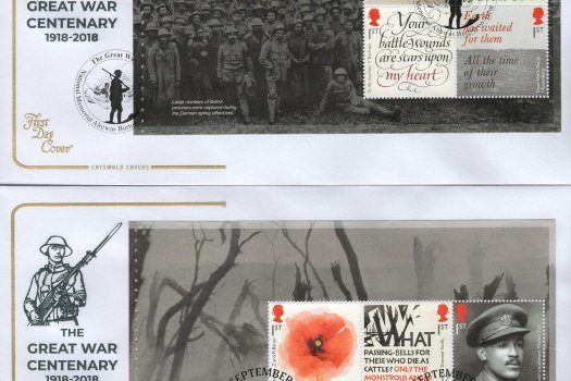 Cotswold Great War 1918 PSB FDC image 1