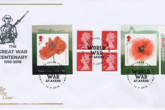 Cotswold Great War 1918 Retail Booklet FDC