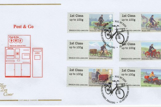 Cotswold P&G Mail by Bike FDC