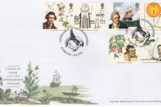 Royal Mail Captain Cook FDC