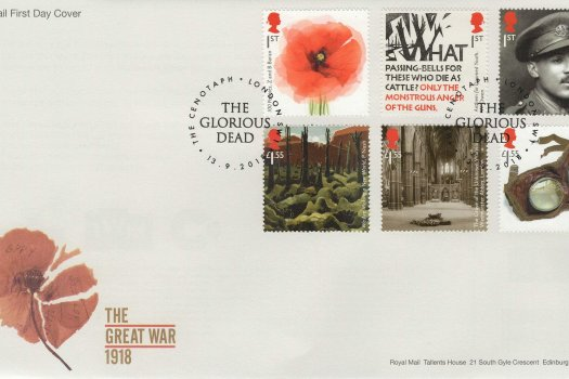 Royal Mail Great War 1918 FDC